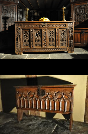 A Magnificent Royal Oak Chest From The 15th Century
