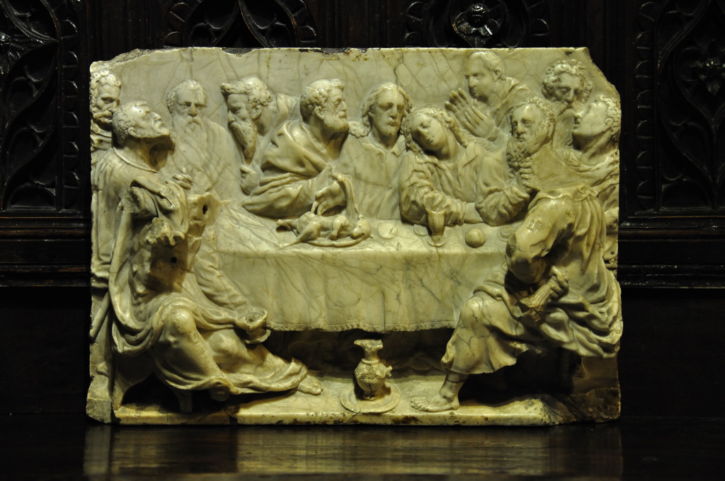 A MOST BEAUTIFUL AND RARE ITALIAN RENAISSANCE MARBLE RELIEF OF THE LAST SUPPER. FLORENCE. CIRCA 1500.