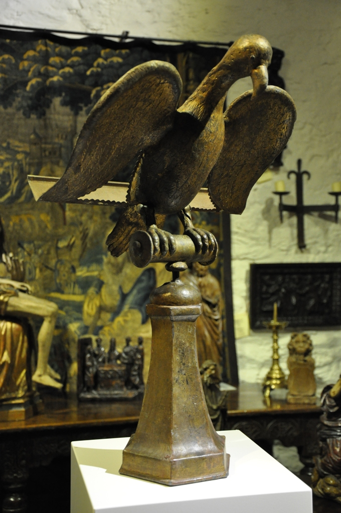 A RARE EARLY 16TH CENTURY EAGLE LECTERN. CIRCA 1520.