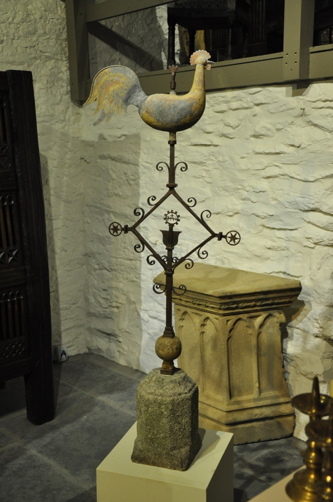 A RARE LATE 17TH/ EARLY 18TH CENTURY STEEPLE WEATHER VANE. CIRCA 1700..