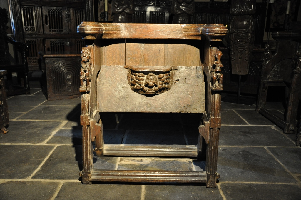 THREE RARE 15TH CENTURY SCOTTISH MEDIEVAL OAK MISERICORD CHAIRS, ARGYLL WESTERN HIGHLANDS . CIRCA 1470.